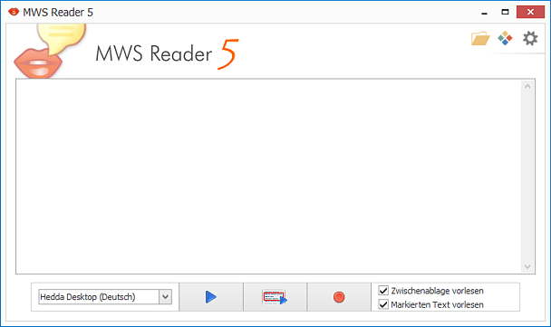 Vorleseprogramm MWS Reader Screenshot